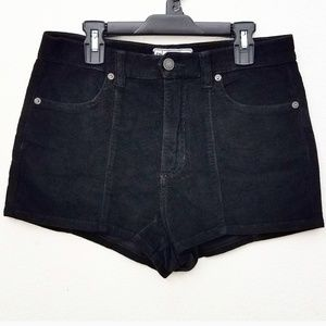 Free People Black Corduroy Shorts